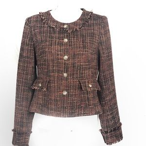 SUNDANCE Tweed Style blazer size 8